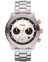 Fossil Keaton Chronograph Silver Dial Men's Watch - CH2815