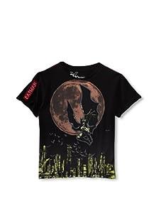 Kid's Republic Boy's The Dome Batman T-Shirt (Black)