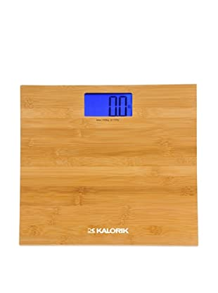 Kalorik Digital Bathroom Scale, Bamboo, 11.33X1.25X11.33