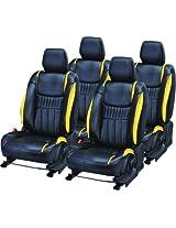 AutoDecor DS-016 Black Leatherite Car Seat Cover For Hyundai Creta(PACK OF 4)