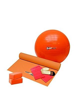 Gymline Set Fitness Pilates & Yoga Exclusive orange/rot/naturweiß