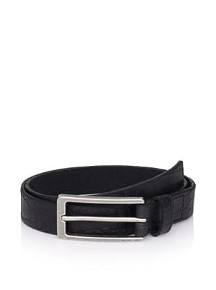 Michael Kors Men's Croc-Embossed Belt (Black)
