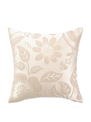 Peking Handicraft Acadia Pillow, Floral Grey