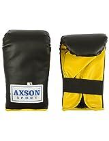 Axson Unisex Leather Boxing Sleek Punching Gloves Large Black & yellow
