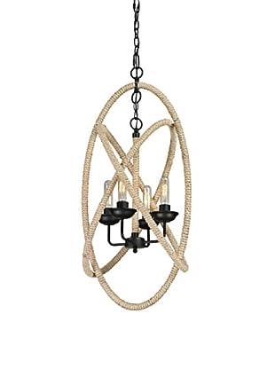 Artistic Lighting Pearce Collection 4-Light Chandelier, Matte Black