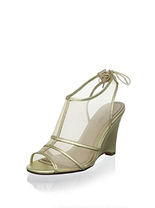 Pour La Victoire Women's Bee Wedge Sandal (Gold)