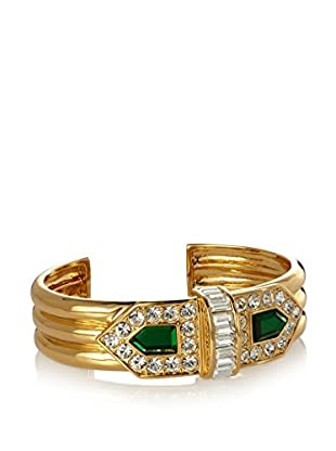 Rachel Zoe Deco Faux Emerald Cuff
