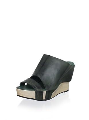 Antelope Women's High-Wedge Slide Sandal (Green)