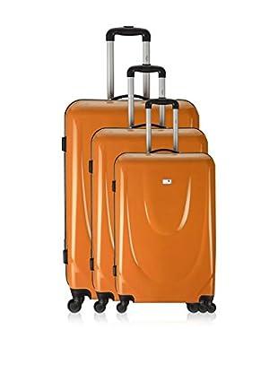 Potiron 3er Set Hartschalen Trolley Flight orange