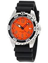 Momentum Men's 1M-DV00O1B M1 Orange Dial Black Rubber Dive Watch