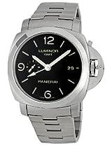 Panerai Men's M00329 Steel Luminor 1950 GMT Black Dial Watch