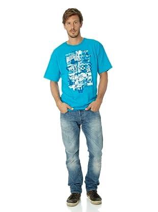 Vans Herren T-shirt Otw Checker Blaste (Turquoise)