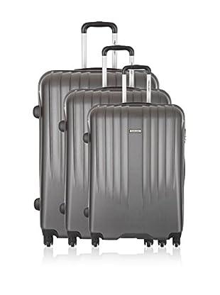 Travel ONE Set de 3 trolleys rígidos Warrington Gris