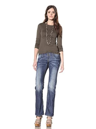 M.O.D Miracle of Denim Women's Natalie Slim Fit Bootcut Jean (Cay Blue)