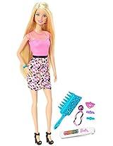 Barbie Rainbow Hair Doll, Multi Color
