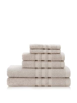 Terry Towels 6-Piece Towel Set, Light Grey