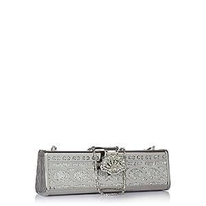 Moda Desire Chic Silver Clutch For Ladies