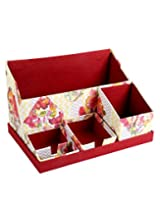 Stylish Red Paper Office Set Floral Printed By Rajrang
