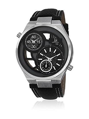 Joshua & Sons Uhr mit Schweizer Quarzuhrwerk JS76SS schwarz 48  mm