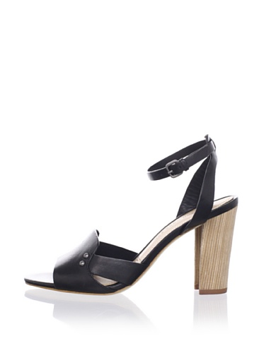 Sigerson Morrison Women's Bunch Ankle-Strap Sandal (Black)