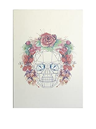 Really Nice Things Leinwandbild Skull Flowers