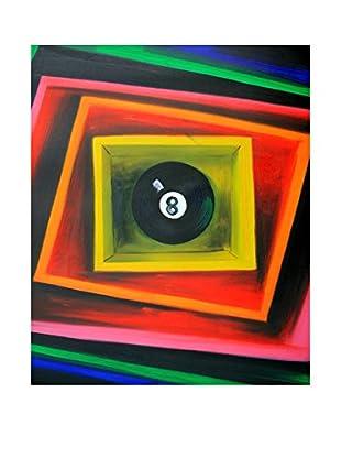 Legendarte Pintura al Óleo sobre Linezo La Magica Palla Otto multicolor