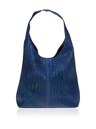 Chiara Morgante Schultertasche  blau