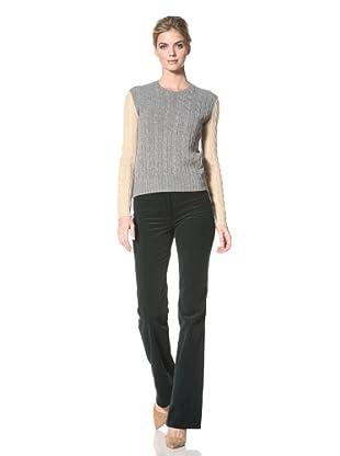 ALTUZARRA Women's Contrast Gypsy Sweater (Grey/ Beige)