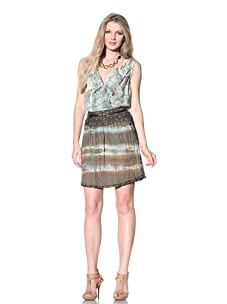 Gregory Parkinson Women's Cotton Skirt with Pockets (Olive)