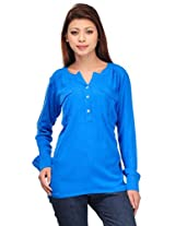 MOTIF Women's Top (A306s_Blue_Small)