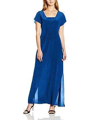 Stefanel Vestido Seda Azul ES 36 (IT 40)