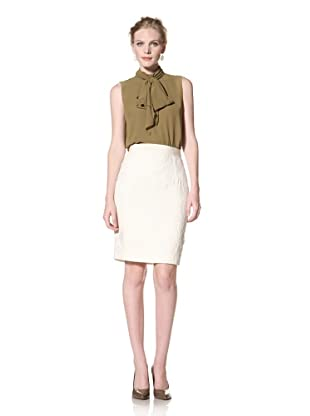 GIAMBATTISTA VALLI Women's White Lace Pencil Skirt (White)