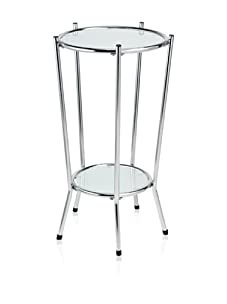 Adesso Cosmopolitan Tall Pedestal Table, Steel