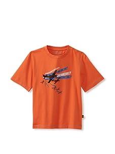Alpha Industries Boy's Flight Tee (Orange)