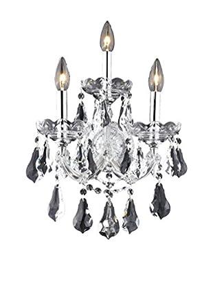 Crystal Lighting Maria Theresa 3-Light Wall Sconce, Chrome