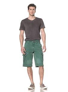 Jet Lag Men's Khedira Cargo Short (Grass Green)