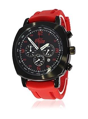 Pit Lane Uhr mit Miyota Uhrwerk Pl-1005-3 rot 42 mm