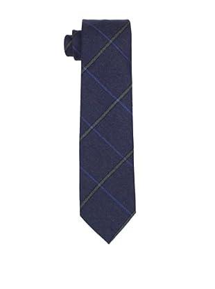 Desanto Men's Plaid Scozia Tie, Blue