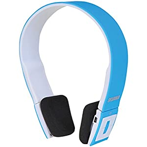 Sylvania Wireless Bluetooth Stereo Over Ear Headphones with Microphone - Blue