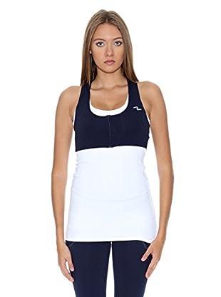 Naffta Camiseta Active / Gym (Blanco / Azul Marino)