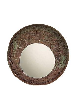 bambeco Reclaimed Drum Lid Mirror Grey, Brown