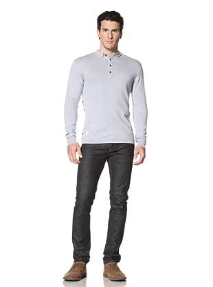 Marshall Artist Men's Long Sleeve Golf Polo Shirt (Sky Blue)
