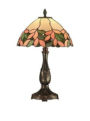 Dale Tiffany Crystal Leaf Tiffany Table Lamp, Multi