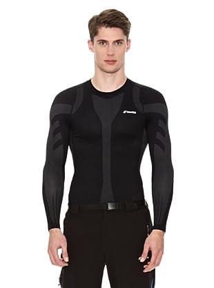 Goritz Camiseta Unisex Térmica Plata (Negro)