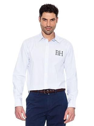 Pedro del Hierro Gestreiftes Hemd (Hellblau)
