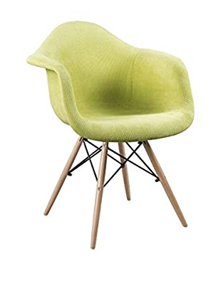 LO+DEMODA Set Silla 2 Uds. Tower Arms Fabric Edition Verde