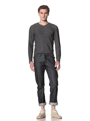 Rogan Men's Orlop Double V-Neck Sweater (Oasis Blue Combo)