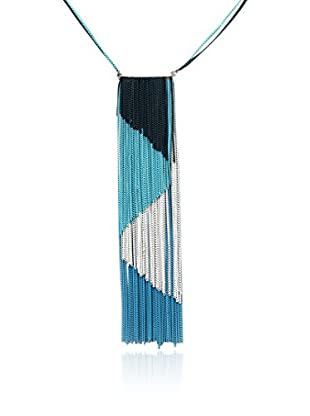 Amrita Singh Collar Blue Fringe Choker Necklace