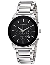 Bulova Classic Analog Black Dial Men's Watch - 96B203