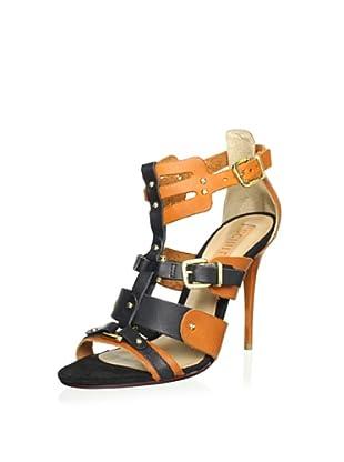 Schutz Women's Hardware Sandal (Clay/Black)
